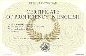 anglais certificat